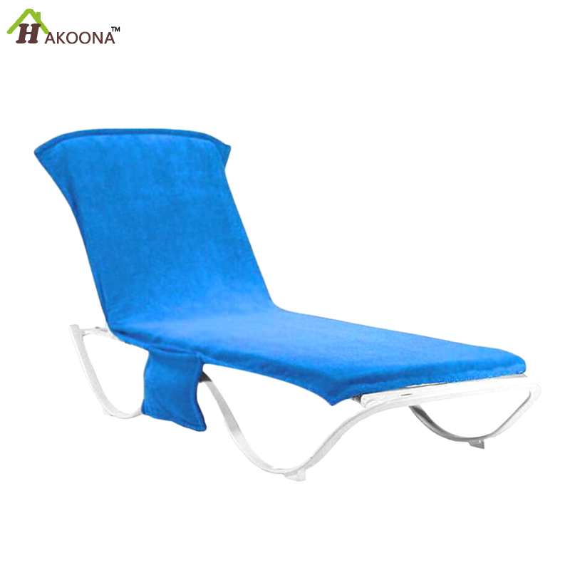 HAKOONA Lounger Mate Beach <font><b>Towel</b></font> for Adults Sun Lounger Bed Holiday Garden Lounge Pockets Carry Bag Beach Towles 215x75cm