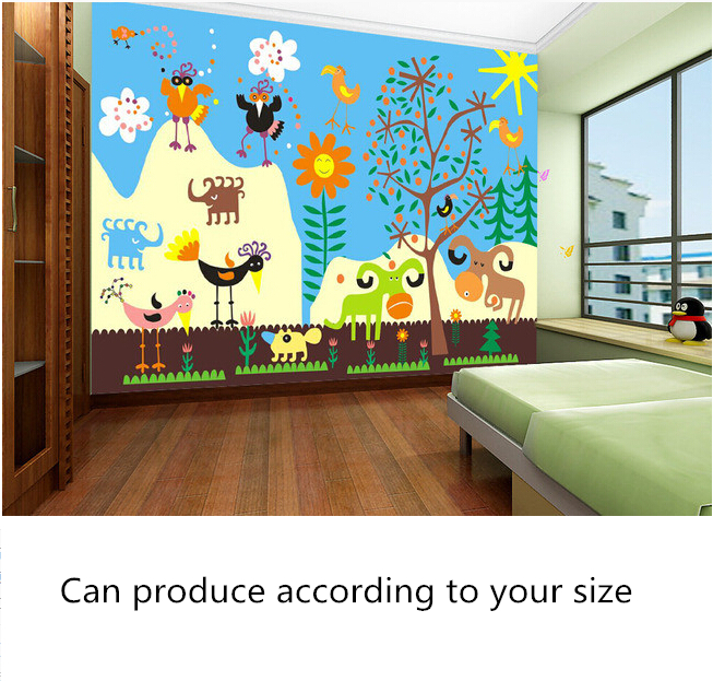Custom papel DE parede infantil, cartoon murals for children room, the boys and girls bedroom setting wall waterproof wallpaper custom papel de parede infantil space shuttle orbiting earth 3d cartoon mural for children room bedroom wall vinyl wallpaper