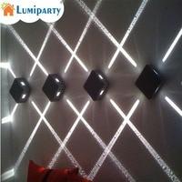 LumiParty 4W LED Wall Sconce Light Fixture Cross Starlight Lamp Outdoor Waterproof Building Exterior Decor Light