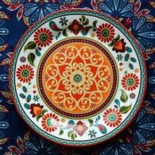 Earendil/Bohemian ceramic tableware/Buddha Lottie salad small flowers decorative plate/western food