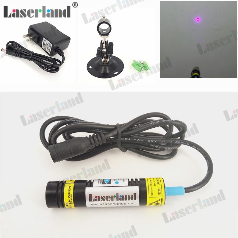 16X65mm 405nm Violet 120mw Ellipse Dot Laser Module W/ Adapter +Mount