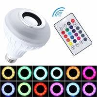RGBW LED Music Lamp Bluetooth Speaker Lampada De Led Com Som LED Blub With Remote Control