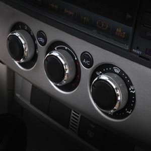 Image 3 - Perilla de CA de coche, 3 unidades/juego, 4 colores, interruptor de Control de temperatura de aire acondicionado de aleación de aluminio, accesorios adecuados para Ford Focus