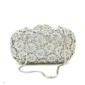 Image 5 - Femmes soirée sac de fête diamants luxe cristal embrayage mariée mariage fête sacs à main sac fleur chrysanthème cristal sacs à main