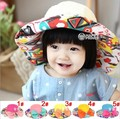 2016 новые детские шапки детская мода осень и зима соломы вс hat геометрические печати hat 52 см