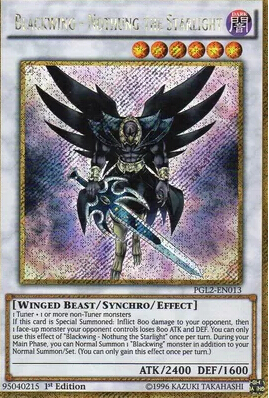 PGL2-EN013 Blackwing - Nothung The Starlight Gold Secret Rare 1st Ed YuGiOh Card