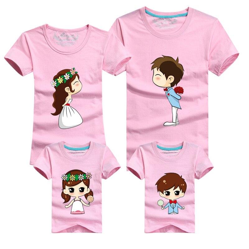 487e7e5c5473f US $5.6 49% OFF|1 Piece Family Matching Outfits Mother Father Son Daughter  Cartoon Bride Bridegroom Print Women Men Children Boy Girl T shirt-in ...