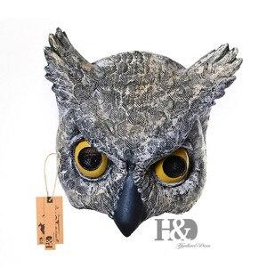 H&D 7inch Half Face Owl Masks