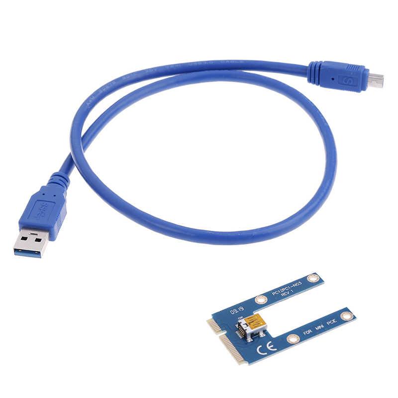 Mini cabo de extensão usb 3.0 para pci-e pcie pci express, cabo adaptador de placa de riser 1x para 16x, bitcoin btc miner mineração 60cm