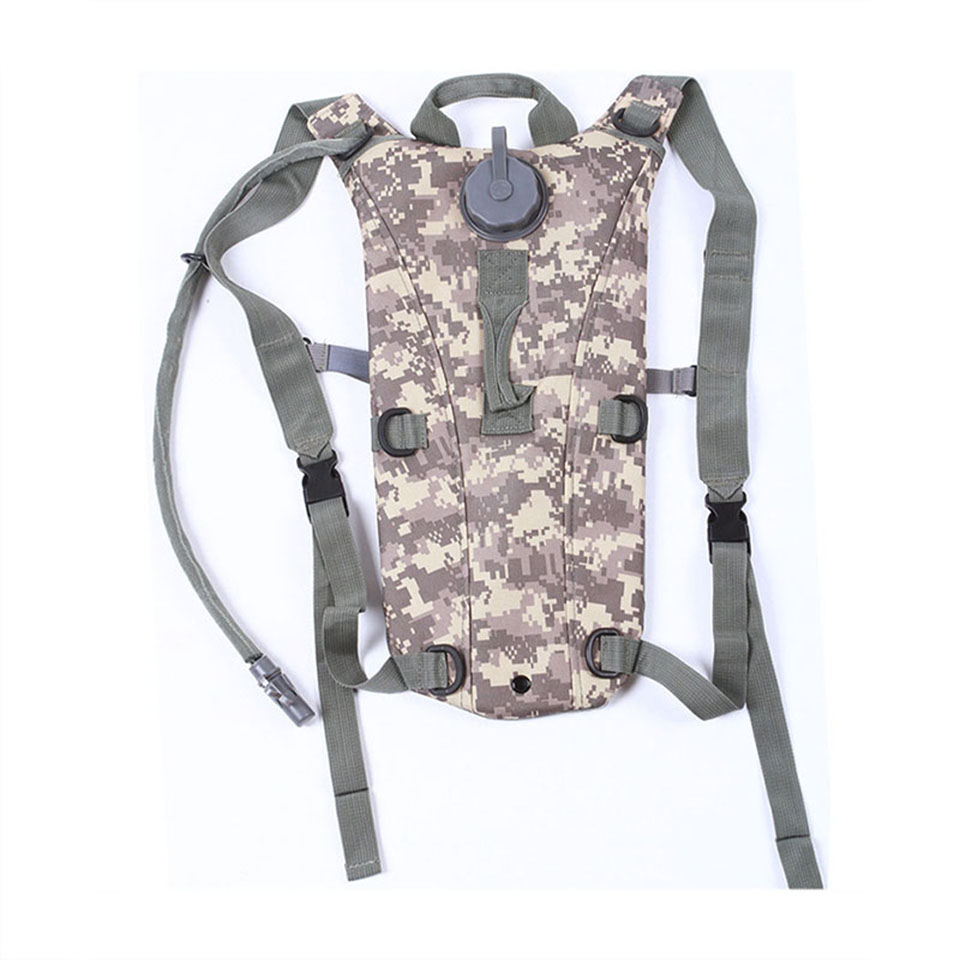 3L Portable Hydration Packs Camo Tactical Bike Bicycle Camel Water Bladder Bag Assault Backpack Camping Hiking Pouch Tools