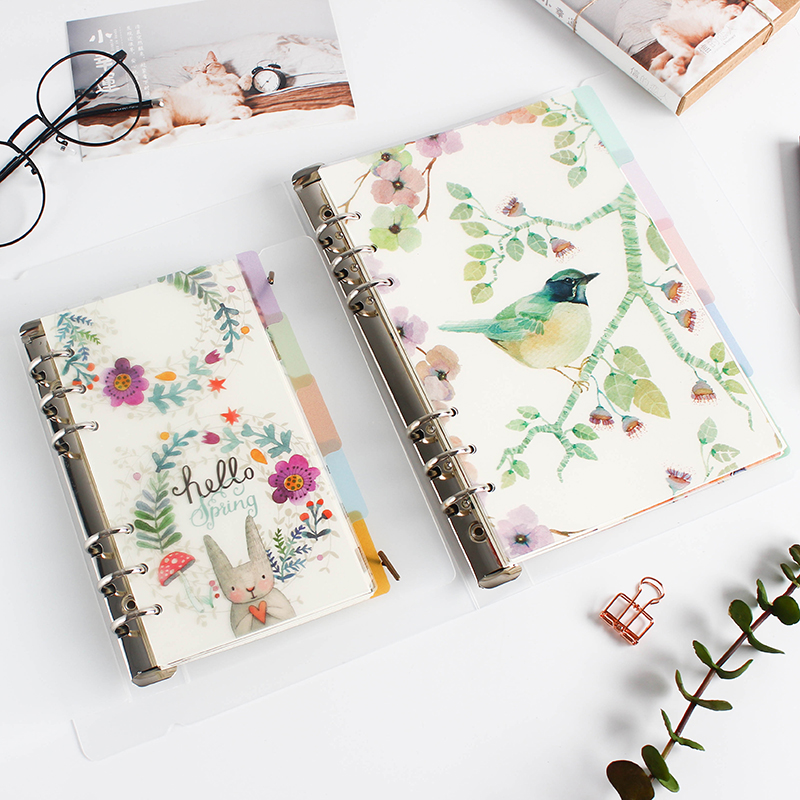 5pcs/pack A5 A6 Original Kawaii Spiral Notebook Divider Cute Fine Organizer Separator Pages Office School Stationery Index Paper