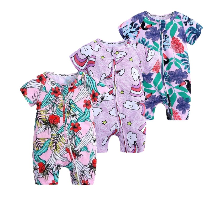 Summer Baby Boy And Girl Short-sleeve Bodysuit 2019 Fashion Cute Baby Wear Newborn-baby-clothes Girl And Bot Kids Clothing