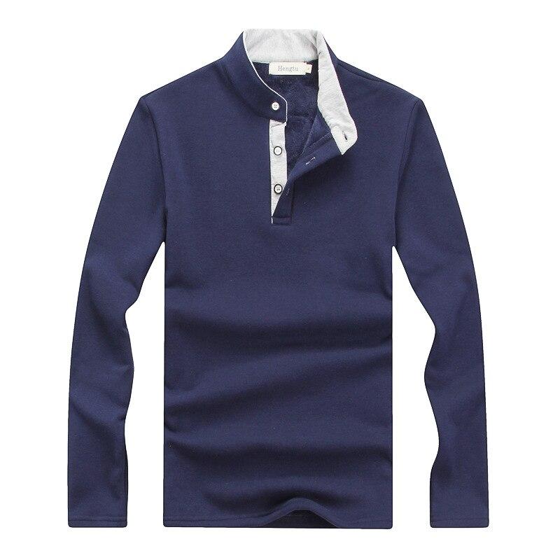 Camisa polo de hombre 2019 Camisa de manga larga de invierno cálido - Ropa de hombre