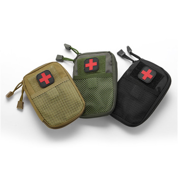 Portable Military First Aid Kit Empty Bag Bug Out Bag Water Resistant For Hiking Travel Home Car Emergency Treatment 2