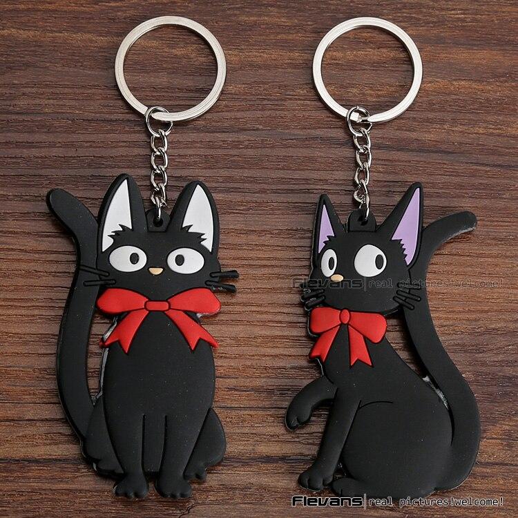 f00d26ed9 أنيمي الكرتون كيكي تقديم الخدمات جيجي القطة السوداء pvc أرقام اللعب مع  المفاتيح 2 أنماط 10 قطعة/الوحدة