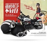 Harley Motorcycle Helmet ABS Detachable Visor Goggles Safety Brown Black Durable Helmets KTM Motocross Half Helmets
