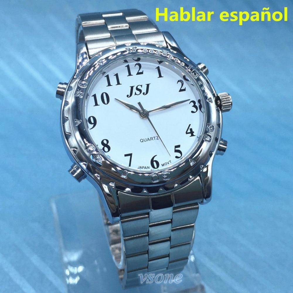 9bb61a0b8ea Hablar Espanol Espanhol Falando Relógio para Cegos ou Deficientes visuais  em Amante de Relógios de Relógios no AliExpress.com