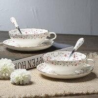Britannique Royal Porcelaine Café Tasse En Céramique Tasse de Thé Et Soucoupe Cuillère Ensemble Porcelaine Avancée 200 ml Tasse Pour Le Cadeau café