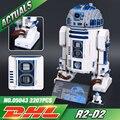 Лепин 05043 2127 Шт. Новые Подлинная Звездные Войны Серии R2-D2 Робот Набор из печати Строительные Блоки Кирпичи Игрушки 10225