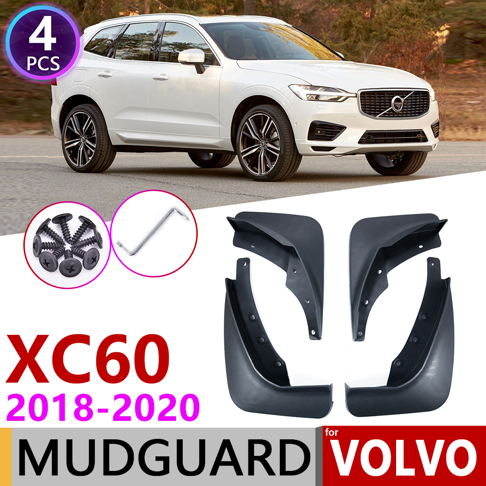 4 Mud Flaps Splash Guards Fender Car Mudguard for Volvo XC60 2018-Up