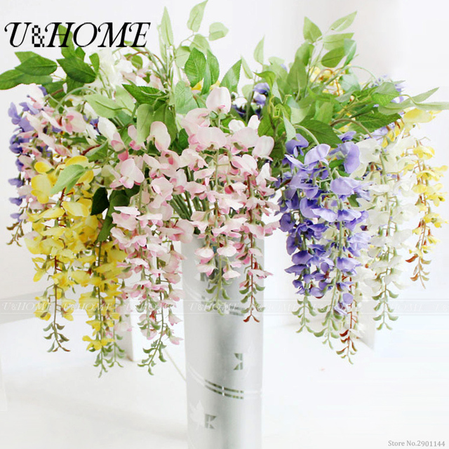 Artificial Pea Fragrant Flower Silk Flores High Quality For Home Table Wedding Outdoor Diy Decoration Fake