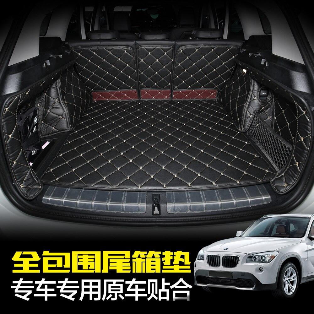 Custom fit pu leather car trunk mat cargo mat for bmw x1 f48 2015 2016 2017