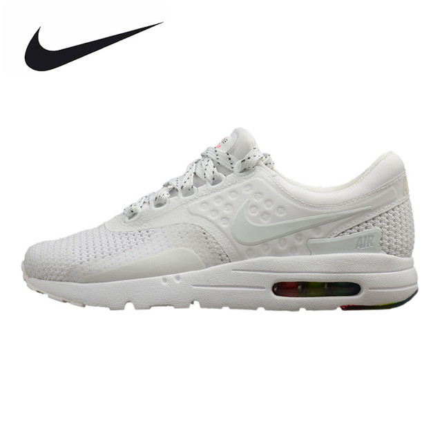0c1b3e103756ad ... cheapest nike air max zero qs mens and womens running shoes white shock  absorption breathable 14700