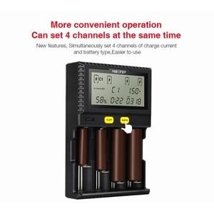 Image 3 - Miboxer C4 LCD Smart Batterie Ladegerat fur Li Ion IMR ICR LiFePO4 3.7v 18650 14500 26650 21700 AAA Batterien 100 800mah 1.5A