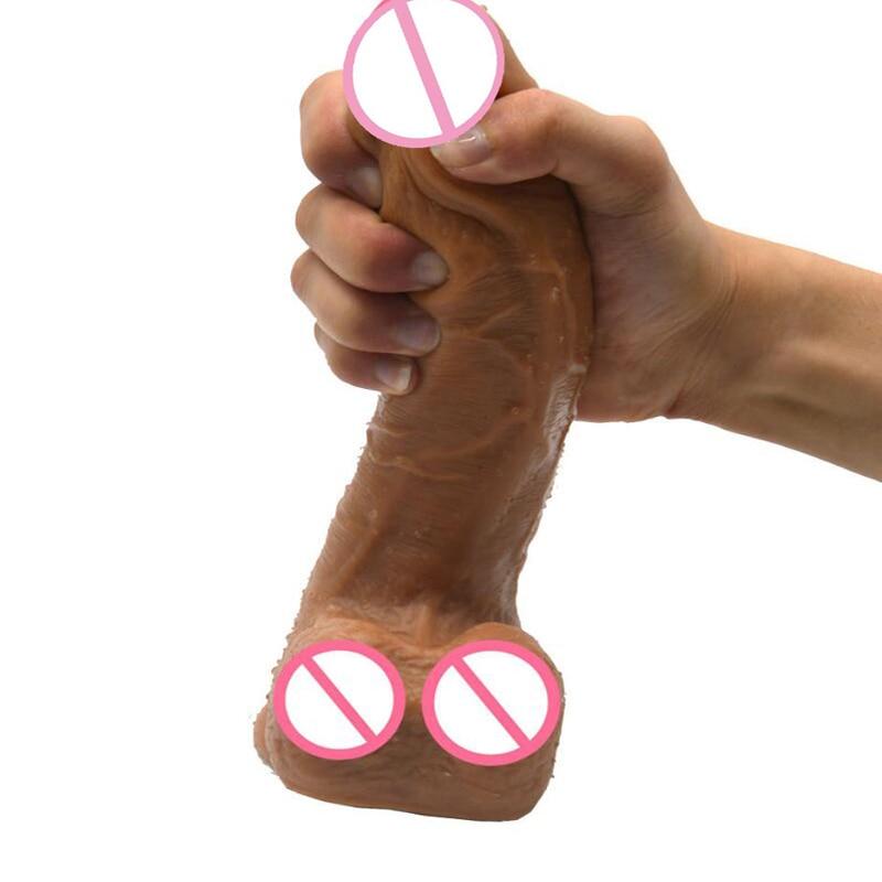 Double couche silicone réaliste Animal cheval gode doux énorme pénis aspiration grande bite Sextoys pour les femmes lesbiennes masturbation Sex Shop