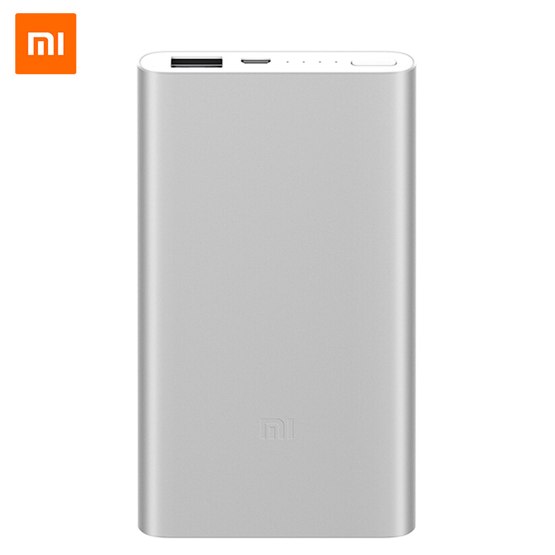 Original Xiaomi <font><b>Power</b></font> <font><b>Bank</b></font> <font><b>5000mAh</b></font> Quick Charge Powerbank 5000 mAh External Battery Pack Portable Charger For iPhone Samsung image