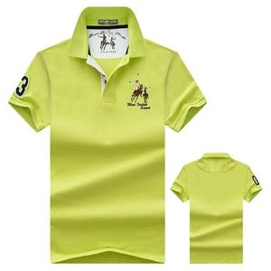 Image 2 - Polos de tela suave con solapa bordada para hombre, polos de negocios de talla grande, Polo de manga corta