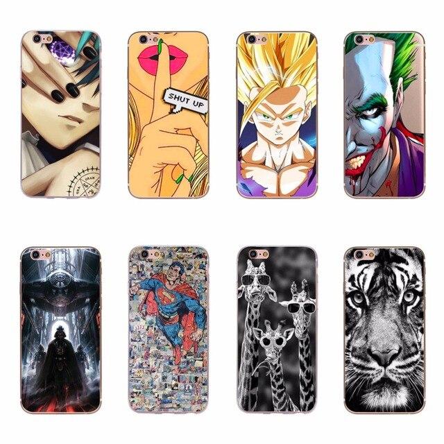 8323658abdd Cover For Fundas Apple iPhone 6 6s TPU Silicone Case Cover Tiger Starwars  Superman Cool Design