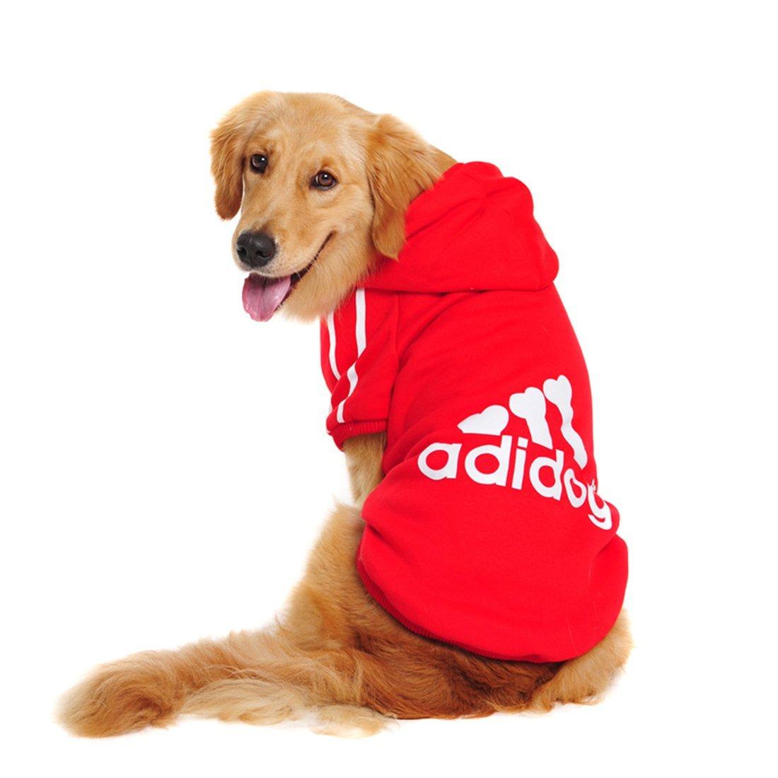 Gran Perro ropa de invierno cálido abrigo chaqueta ropa para perros de gran tamaño Golden Retriever Labrador 3XL-9XL Adidog Sudadera con capucha