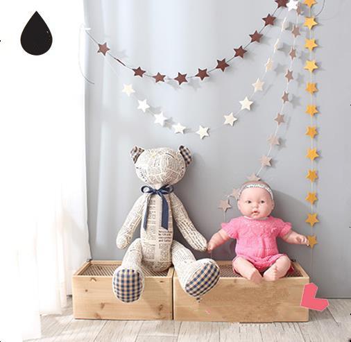 2 Unids/set Estrella estrella Tela No Tejida Colgante Bebé Cochecito Accesorios Tiendas Redes Decorada Habitación Del Bebé de Cumpleaños Adornos Bombilla