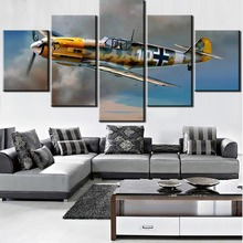 HD printing 5 canvas painting Messerschmitt Bf 109 airplane poster retro decor bedroom living room home wall art picture frame