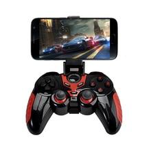 Беспроводной игровой контроллер Bluetooth с держатель телефона Беспроводной игровой джойстик геймпад черный и красный цвета для Android/IOS Системы телефон