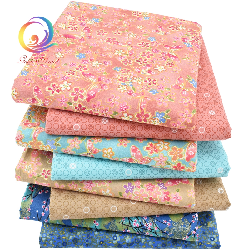 Haisen, Bronzing Printed Twill βαμβακερό ύφασμα, DIY Quilting ράψιμο για τα μωρά και τα παιδιά, μαξιλάρι, μαξιλάρι, παιχνίδια ύφασμα ύφασμα, Half Meter