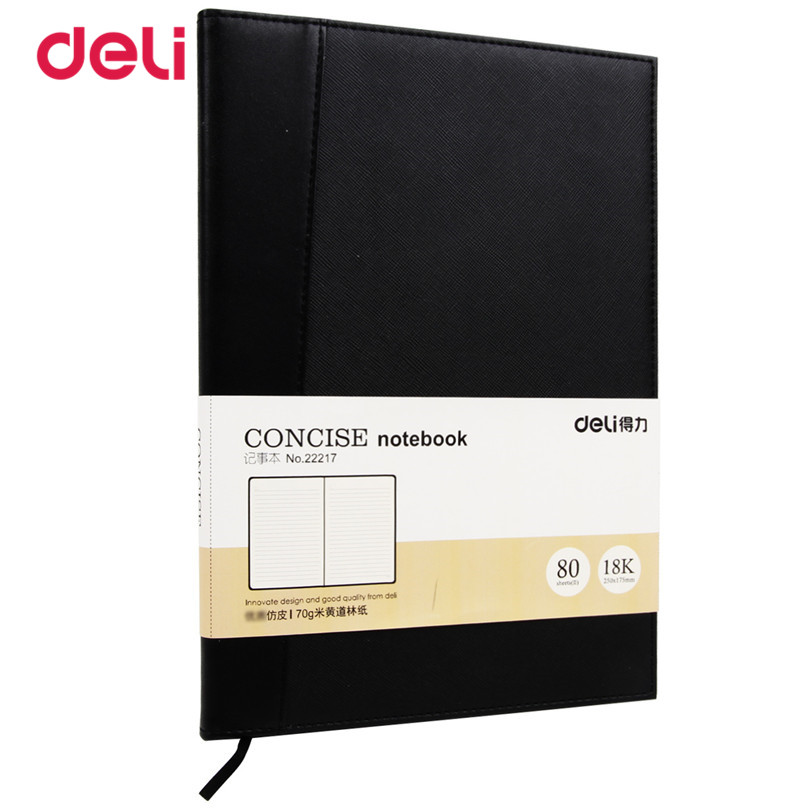 Deli New Stationnary business notebooks imitation leather Notebook for school Office Paper a diary black composition notebook deli 3164 notebook business meeting diary book with a gel pen black leather stationery thick notebook