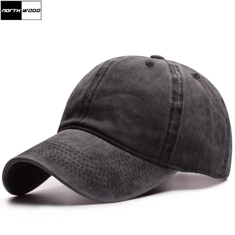 [NORTHWOOD] 2019 Solid Washed Cotton   Baseball     Cap   Women Men Snapback Hats Gorras Para Hombre Dad Hat Casquette Homme