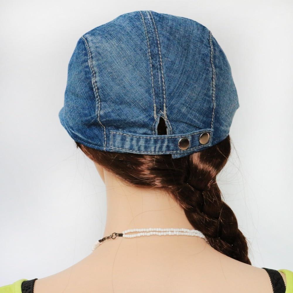 BooLawDee Summer washed denim ivy cap women fashion dad hat men complex  adjust 56 60cm black deepblue lightblue M710-in Visors from Apparel  Accessories on ... 987f5aef1af