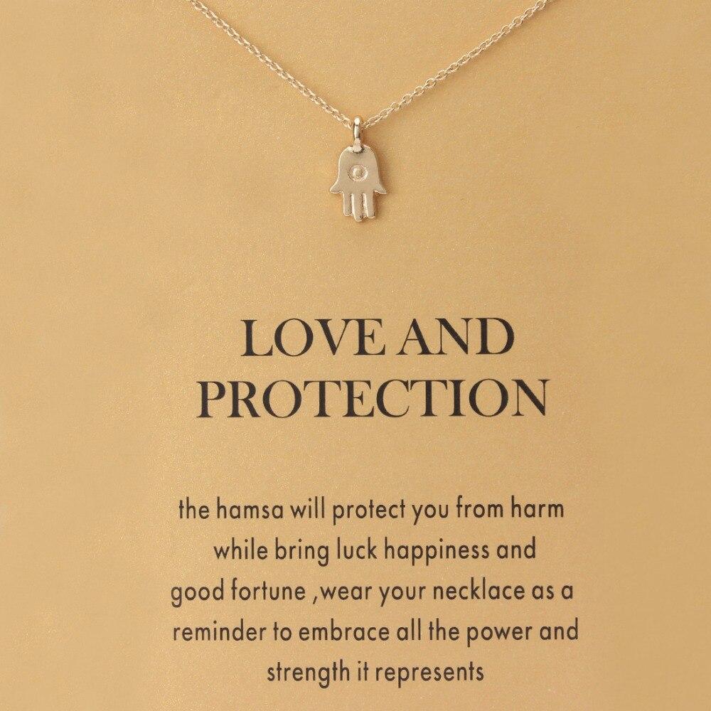 Oeil chanceux Hamsa main pendentif collier souhait carte clavicule chaînes déclaration collier femmes mode bijoux