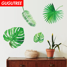 Decorate green leaf art wall sticker decoration Decals mural painting Removable Decor Wallpaper LF-1859 decorate trees monkey leaf art wall sticker decoration decals mural painting removable decor wallpaper lf 1819