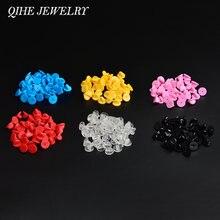 Qihe jewelry 30 шт/лот металлическая резиновая Золотая/Серебряная/черная/красочная