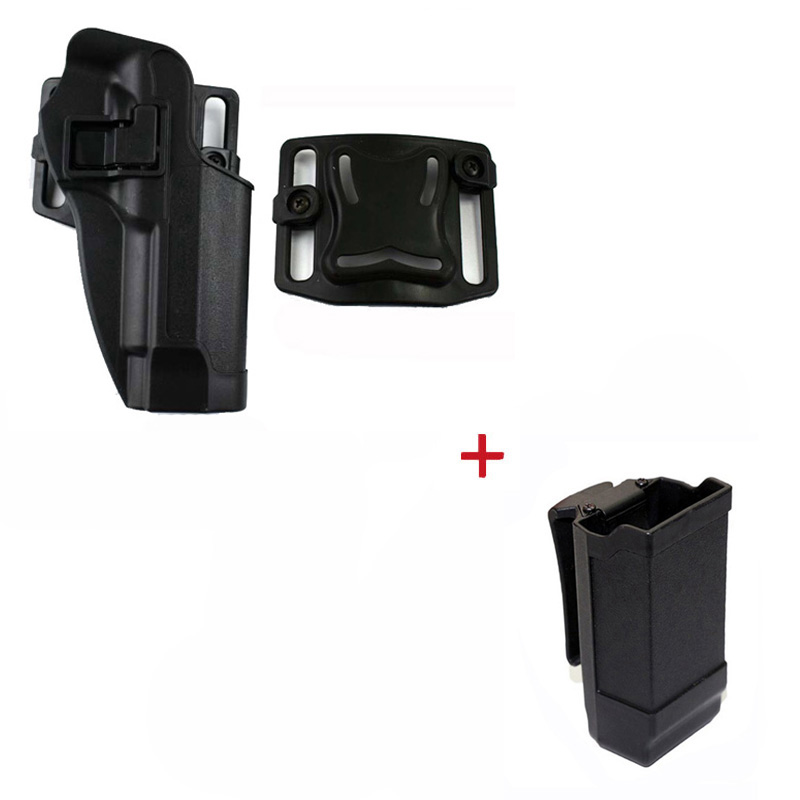 Image 2 - Tactical Belt Holster Beretta M9 92 96 Pistol Holster Military Airsoft Shooting Gun Holster For M9 Holster Hunting Accessories-in Holsters from Sports & Entertainment
