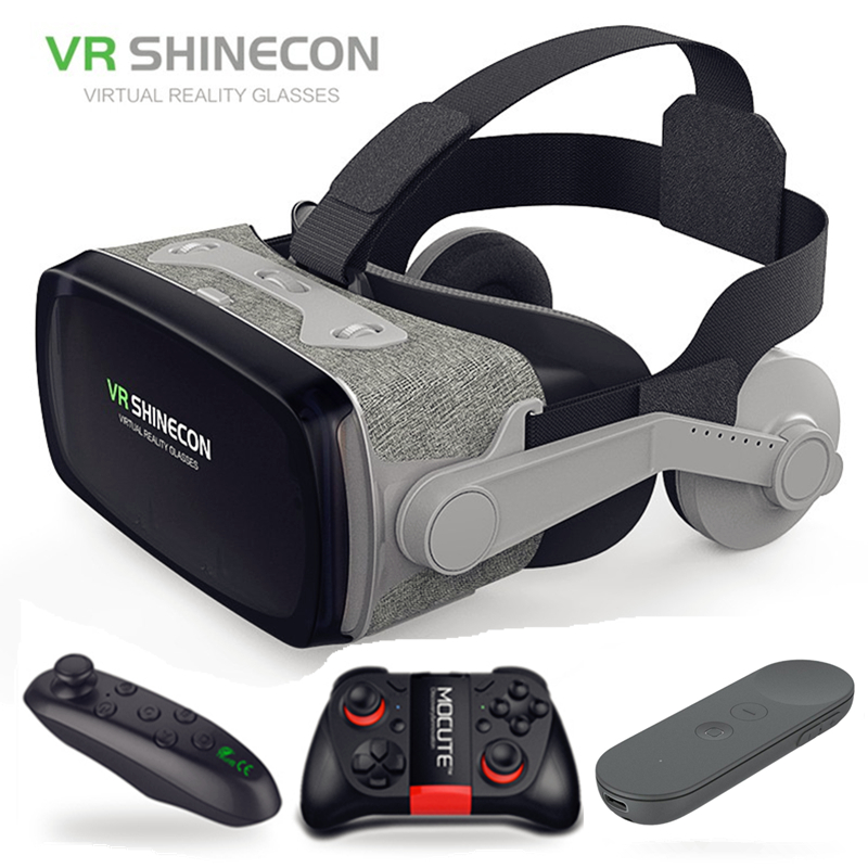 hot!2019 Shinecon Casque 9.0 VR Virtual Reality Goggles 3D Glasses Google Cardboard VR Headset Box for 4.0-6.3 inch  Smartphone Honda Grom