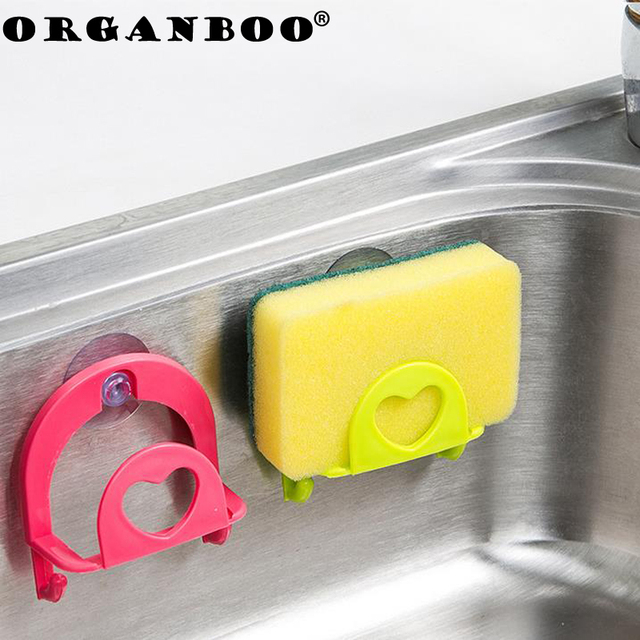 ORGANBOO 1PC Suction cup storage rack wall plastic kitchen sinks ...