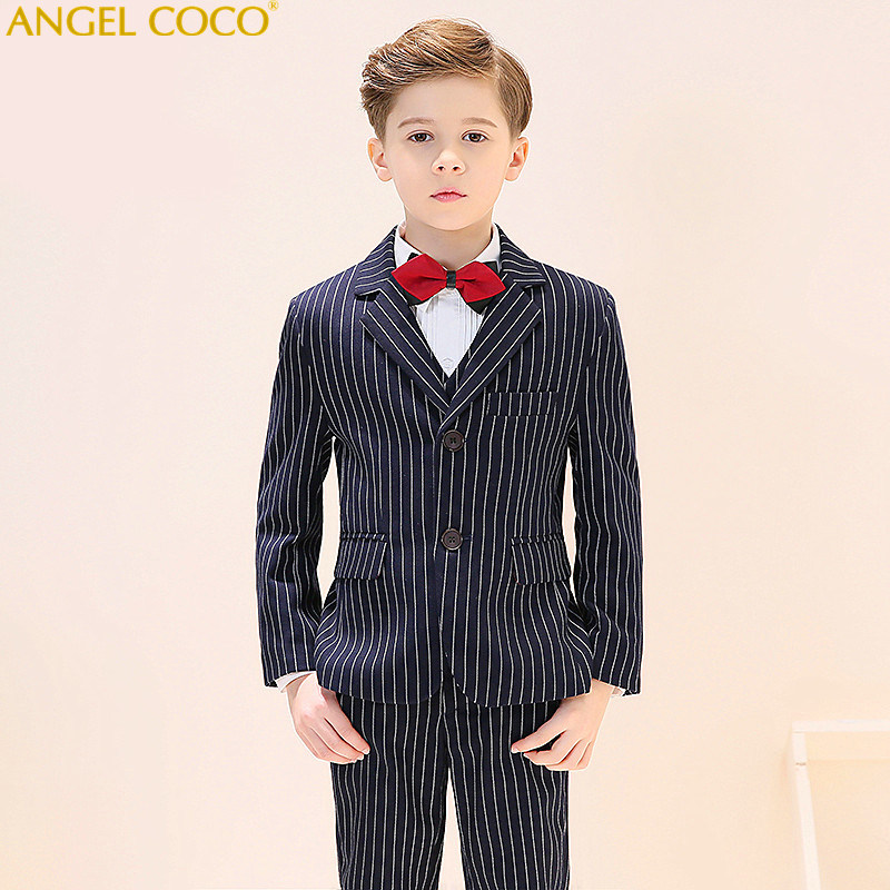 Boys Suits 2018 Children Kids Wedding Clothes Formal Tuxedos School Suit Kids Spring Clothing Black Blue Fashion Outfits Menino boys suits formal 2018 spring autumn new trend children kids wedding party clothes 2 pieces sets child fashion gentleman outfits