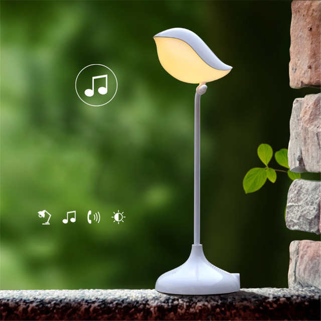 Bird Shape Bluetooth Stereo Desk Lamp LED Touch Switch Eye Protective Learning  Lamp