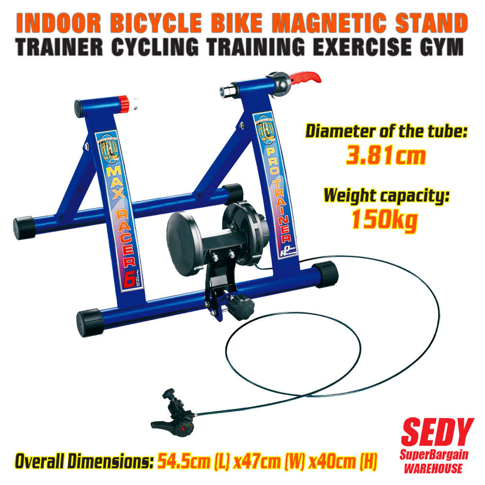 цена NEW Pro Max Indoor Magnetic Bicycle Trainer Bike Training Cycling Stand Home Gym