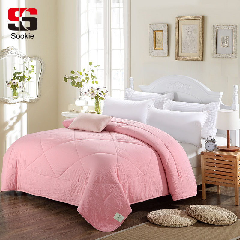 Sookie Solid Color Summer Quilt Bedding Thin Throws Light
